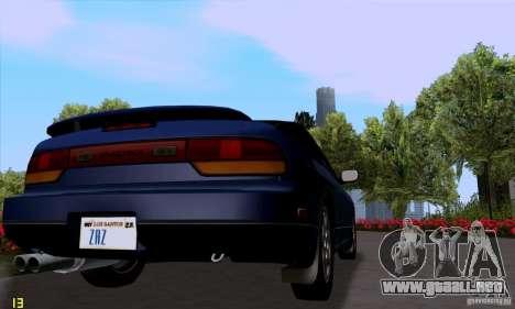Nissan SX 240 Full Stock para GTA San Andreas vista posterior izquierda