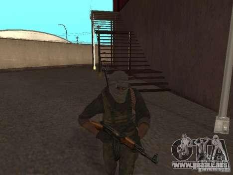 Dušman 2 de COD4MW para GTA San Andreas sucesivamente de pantalla