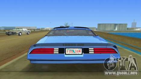 Pontiac Trans Am 77 para GTA Vice City vista lateral izquierdo