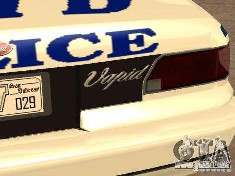 La policía de GTA4 para vista inferior GTA San Andreas