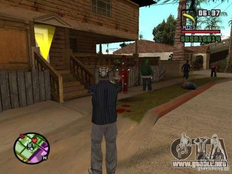 Bunana Gun para GTA San Andreas segunda pantalla