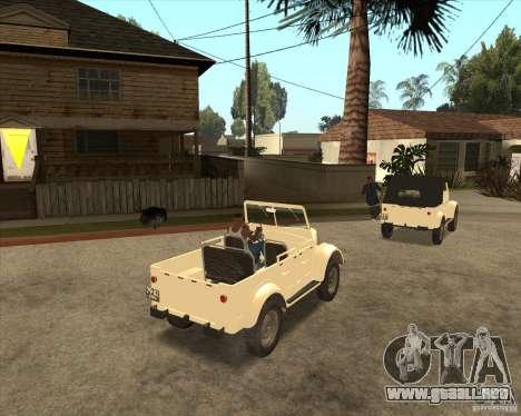 GAZ 69A para GTA San Andreas vista hacia atrás