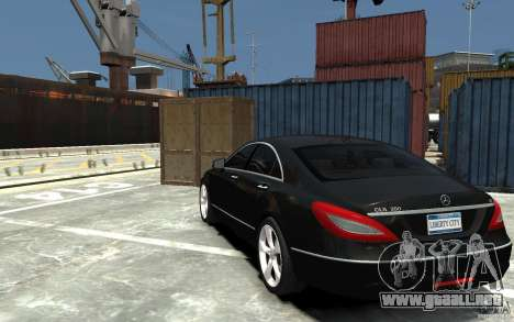 Mercedes-Benz CLS 350 para GTA 4 Vista posterior izquierda