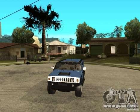 AMG H2 HUMMER para GTA San Andreas vista hacia atrás