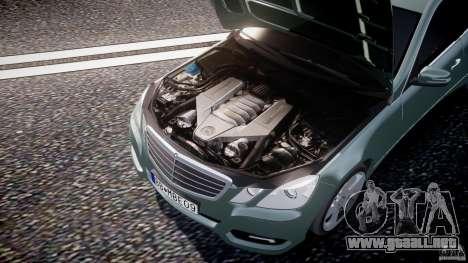 Mercedes-Benz E63 2010 AMG v.1.0 para GTA 4 vista desde abajo