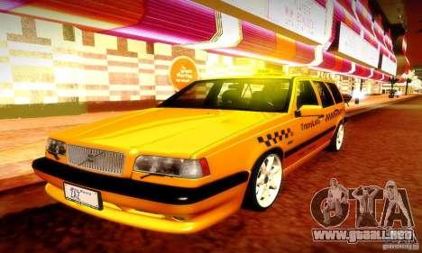 Volvo 850 R Taxi para visión interna GTA San Andreas