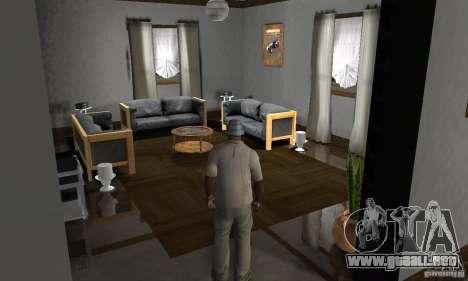 Nuevas casas de seguridad interiores para GTA San Andreas octavo de pantalla