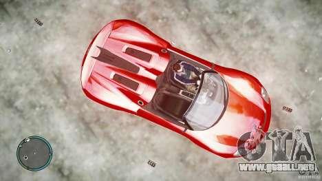 Porsche 918 Spyder Concept para GTA 4 Vista posterior izquierda