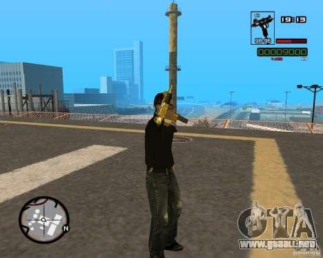 Micro Uzi Gold para GTA San Andreas sucesivamente de pantalla