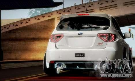 Subaru Impreza WRX Camber para la vista superior GTA San Andreas
