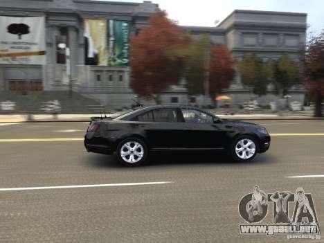 Ford Taurus FBI 2012 para GTA 4 vista interior