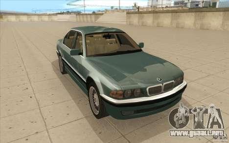 BMW 750iL 1995 para GTA San Andreas vista hacia atrás