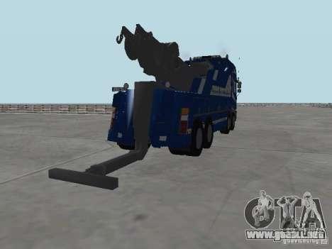 MAN F2000 (con guión de CLEO) para GTA San Andreas interior