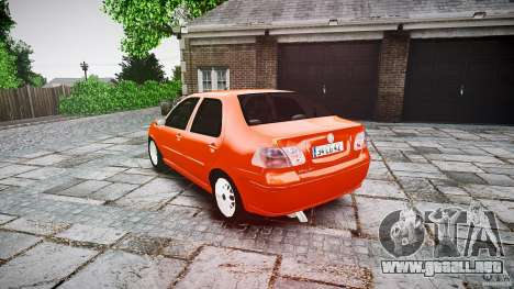 Fiat Albea Sole para GTA 4 Vista posterior izquierda