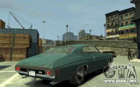 Chevrolet Chevelle SS 454 v2 para GTA 4 visión correcta