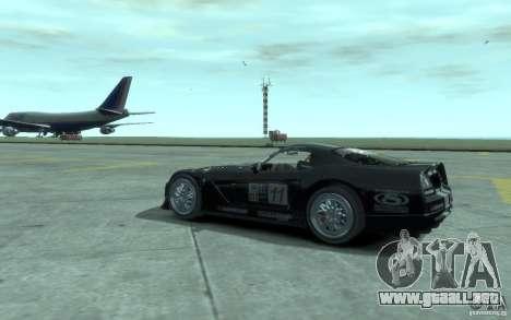 Dodge Viper Competition Coupe para GTA 4 visión correcta
