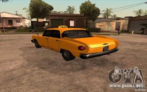 Glendale Cabbie para GTA San Andreas left