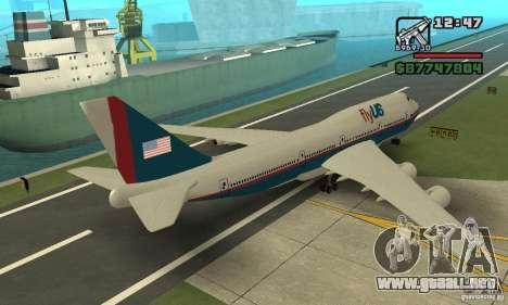 GTA 4 aeronaves Boeing 747 para GTA San Andreas left
