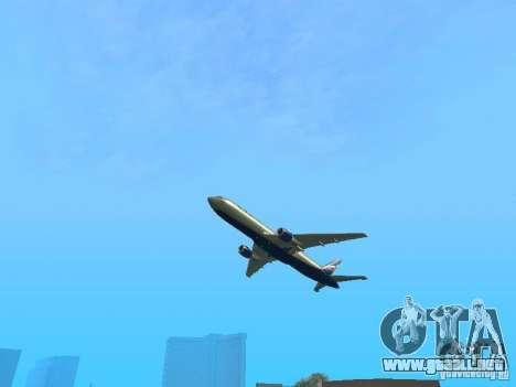 Boeing 767-300 Aeroflot para GTA San Andreas vista hacia atrás