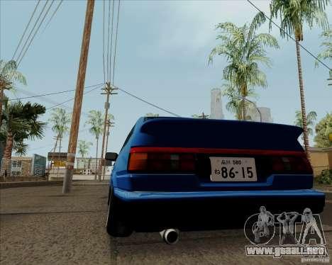 Toyota Sprinter Trueno AE86 JDM para GTA San Andreas vista hacia atrás