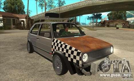 VW Golf Mk2 GTI para GTA San Andreas vista hacia atrás
