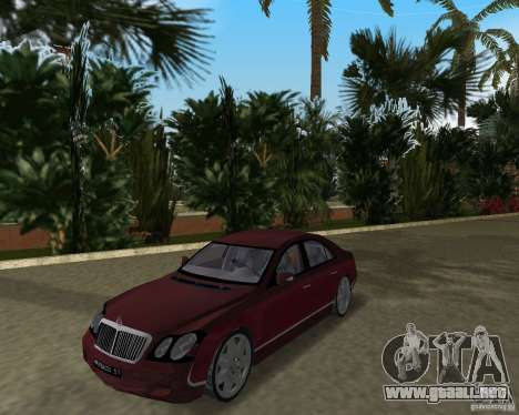 Maybach 57 para GTA Vice City left