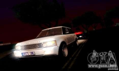 Range Rover Supercharged para GTA San Andreas vista hacia atrás