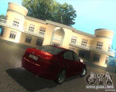 BMW 3 Series F30 2012 para la visión correcta GTA San Andreas