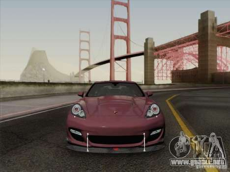 Porsche Panamera Turbo 2010 para vista inferior GTA San Andreas
