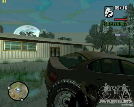 Neumáticos de repuesto para GTA San Andreas segunda pantalla