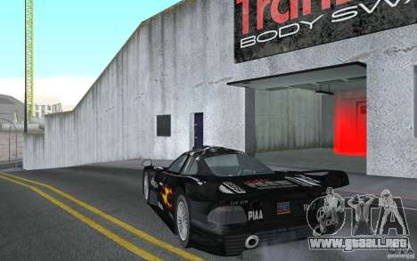 Mercedes-Benz CLK GTR road version (v2.0.0) para GTA San Andreas vista posterior izquierda