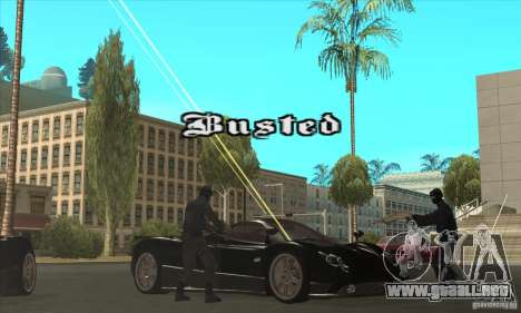 Pagani Zonda F Speed Enforcer BETA para la vista superior GTA San Andreas