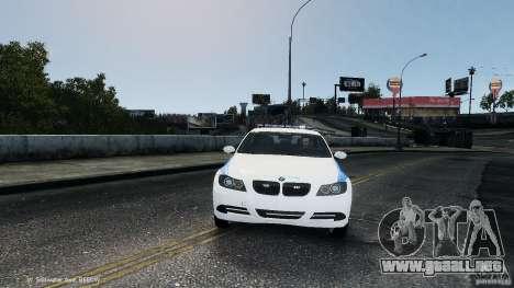 NYPD BMW 350i para GTA 4 vista hacia atrás
