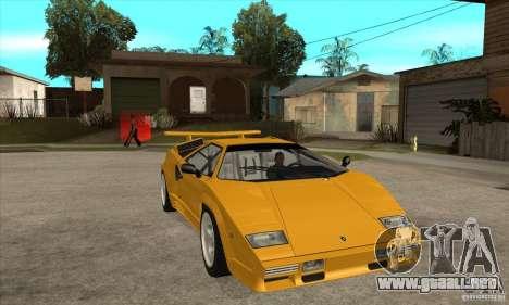 Lamborghini Countach para GTA San Andreas vista hacia atrás