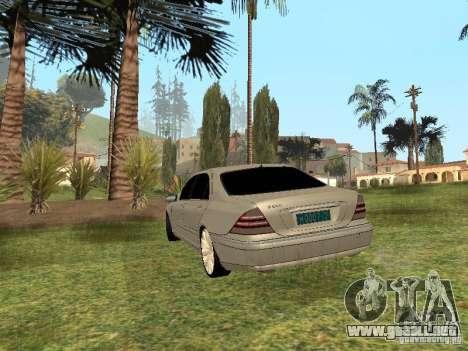 Mercedes-Benz S600 w200 para GTA San Andreas left