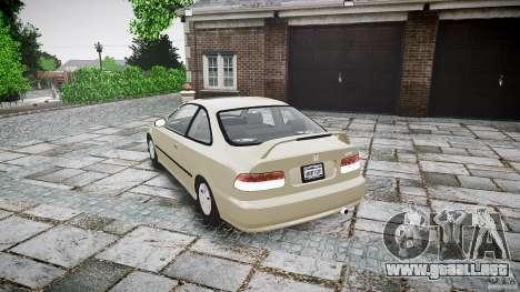 Honda Civic Coupe para GTA 4 vista lateral