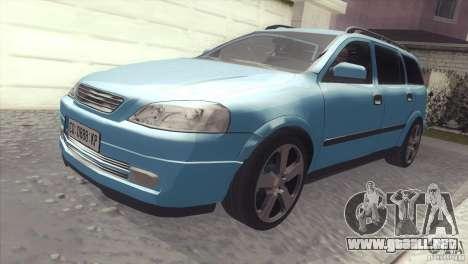 Opel Astra 1999 para la visión correcta GTA San Andreas