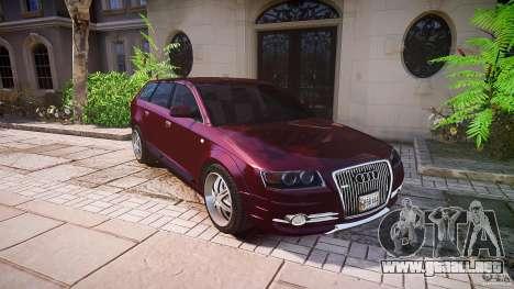 Audi A6 Allroad Quattro 2007 wheel 1 para GTA 4 ruedas