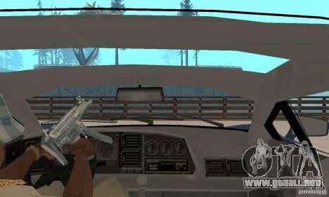 Jaguar XJ220 para GTA San Andreas vista hacia atrás