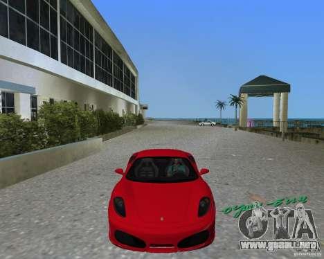 Ferrari F430 para GTA Vice City vista lateral izquierdo