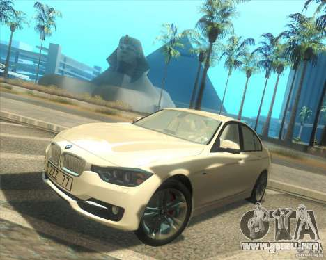 BMW 3 Series F30 2012 para GTA San Andreas left