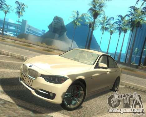 BMW 3 Series F30 2012 para GTA San Andreas left
