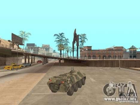 BTR 80 para GTA San Andreas vista posterior izquierda