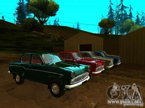 Taxi Moskvich 403 para visión interna GTA San Andreas