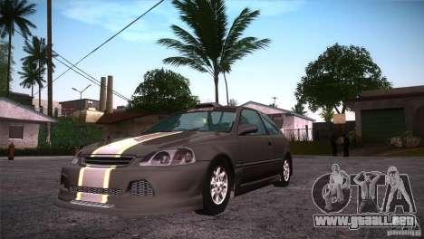 Honda Civic Tuneable para visión interna GTA San Andreas