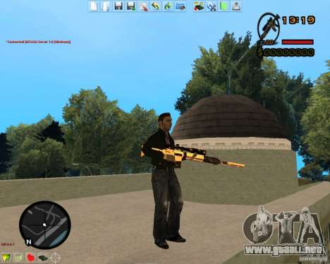 Smalls Chrome Gold Guns Pack para GTA San Andreas décimo de pantalla