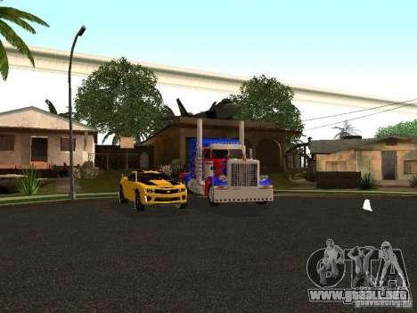 Peterbilt 379 Optimus Prime para vista inferior GTA San Andreas