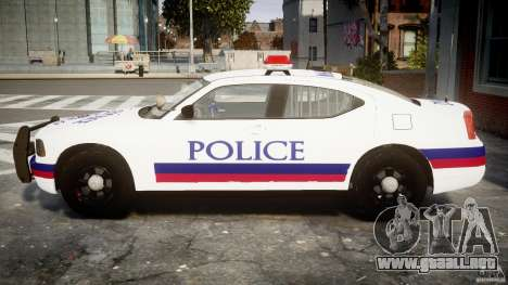 Dodge Charger Karachi City Police Dept Car [ELS] para GTA 4 left