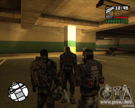 Grupo de acosadores deuda para GTA San Andreas tercera pantalla