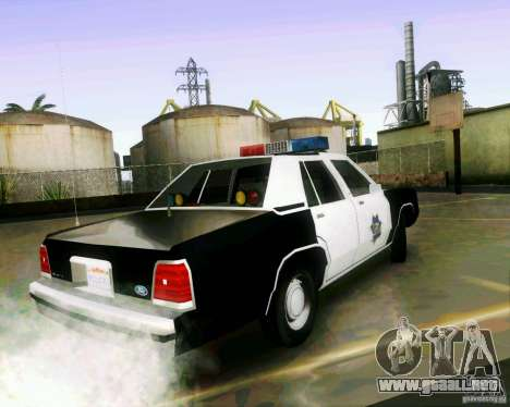 Ford Crown Victoria LTD 1991 SFPD para GTA San Andreas left